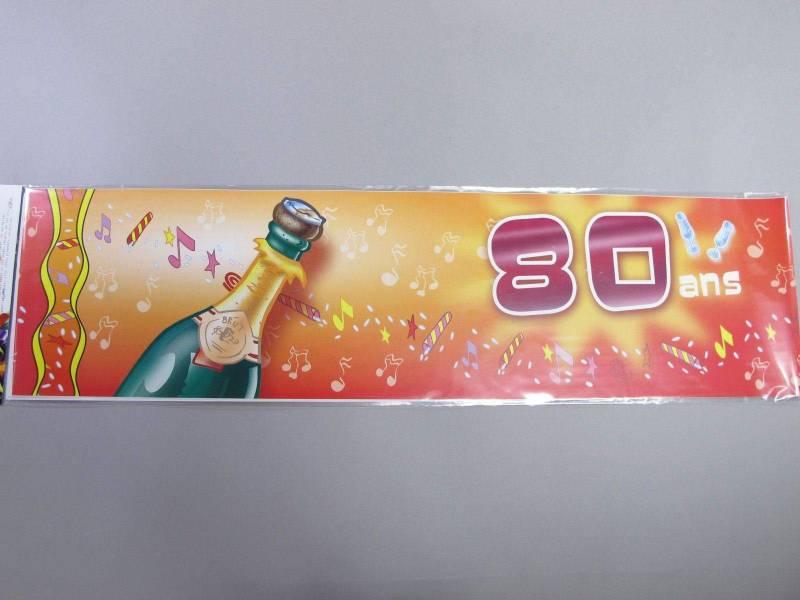 Banderole anniversaire - 80 ans
