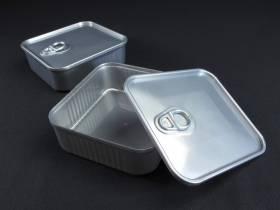 Mignardise boite sardine carrée - Gris