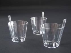 Mignardise verre paille - Transparent