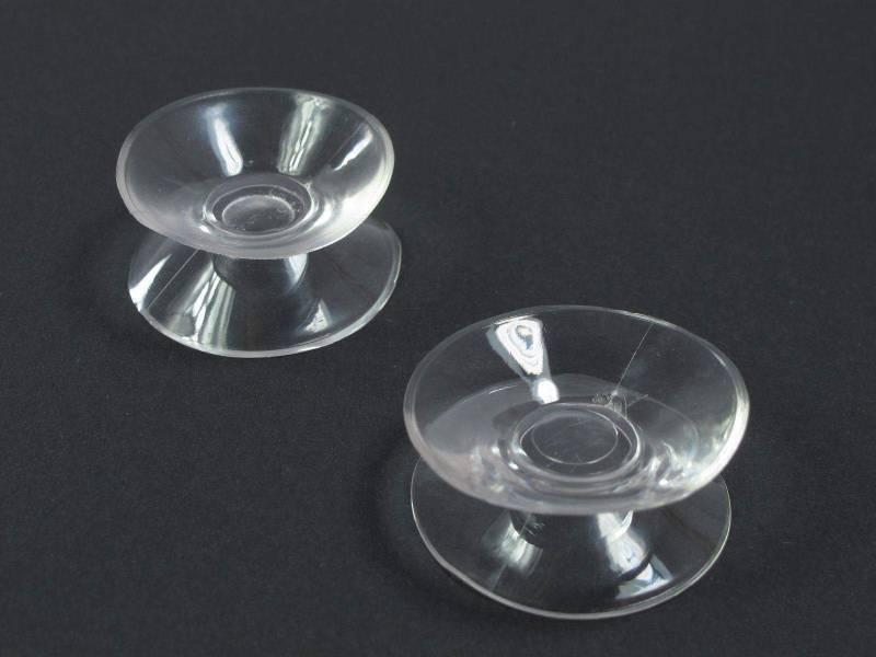 3cm Ventouse double - Transparent