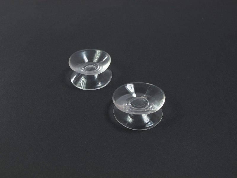 2cm Ventouse double - Transparent