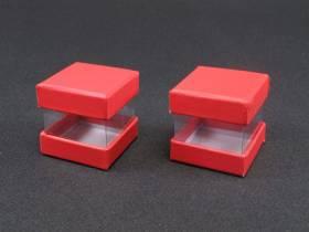 Boite à dragées cube  - Fuchsia