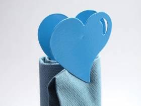 Coeur métal sur pince - Turquoise