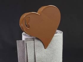 Coeur métal sur pince - Chocolat