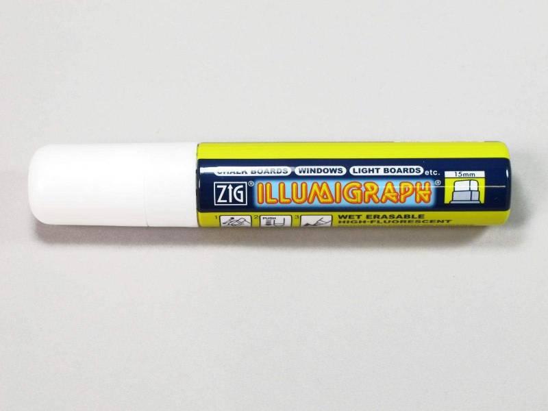 Marqueur fluorescent Illumigraph - blanc