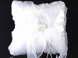 Coussin alliance perle - Blanc