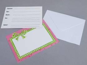 Carte d'invitation avec enveloppe - Poney