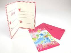 Carte invitation avec enveloppe - Cendrillon