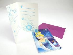 Carte d'invitation avec enveloppe - Cendrillon