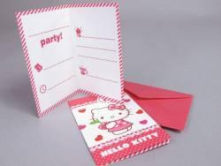 Carte d'invitation avec enveloppe - Hello Kitty