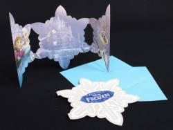 Carte d'invitation avec enveloppe - Reine des neiges