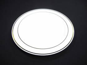 Assiette ronde avec liseré or modèle standard - Blanc