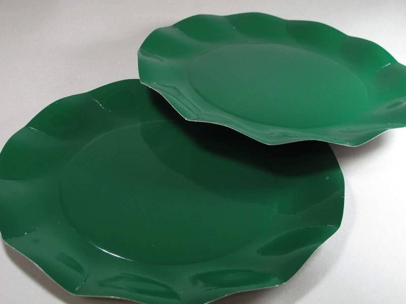 Assiette carton - Vert 27cm