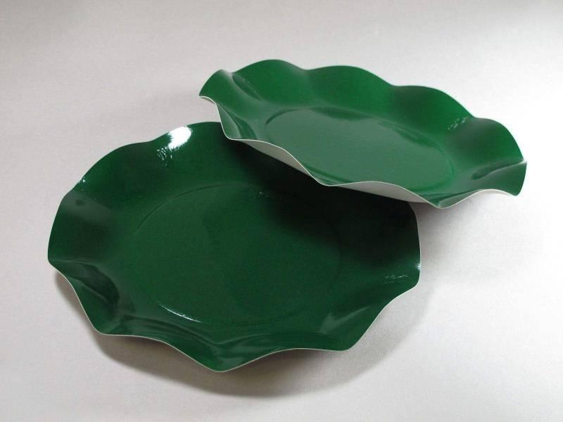 Assiette carton - Vert 21cm
