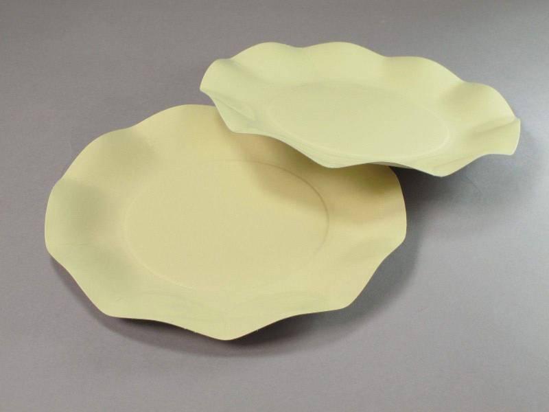 Assiette carton - Crème 21cm