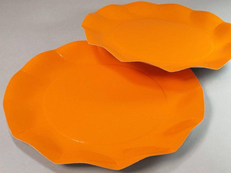 Assiette carton - Orange 27cm