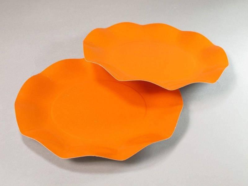 Assiette carton - Orange 21cm