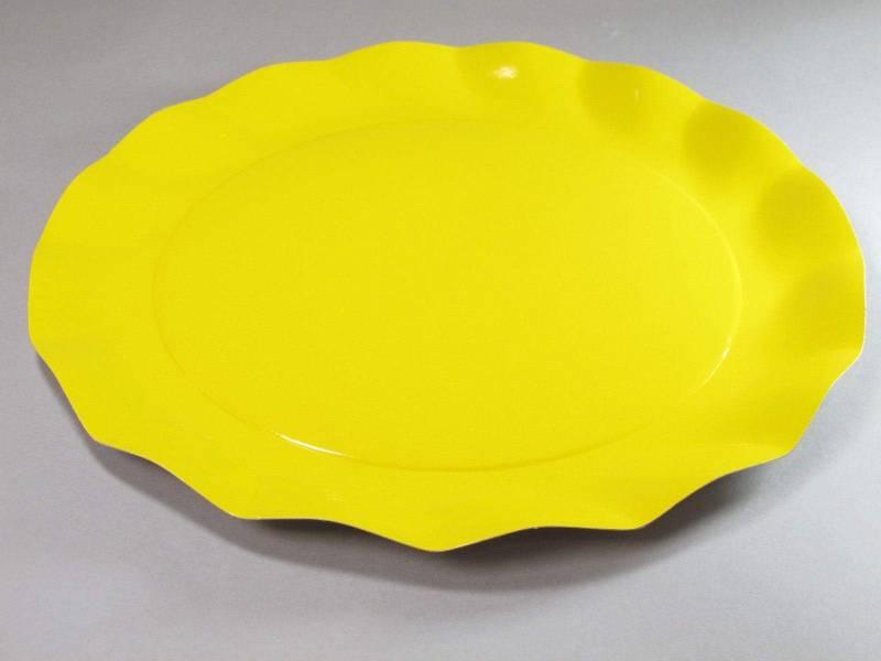 Assiette carton - Jaune 32,4cm