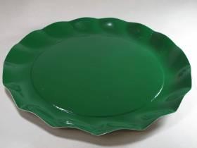 Assiette carton - Vert 32,4cm