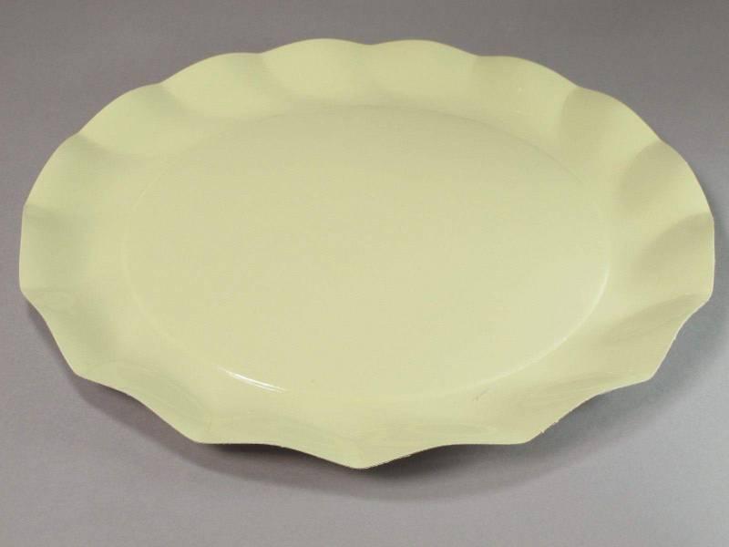 Assiette carton - Crème 32,4cm
