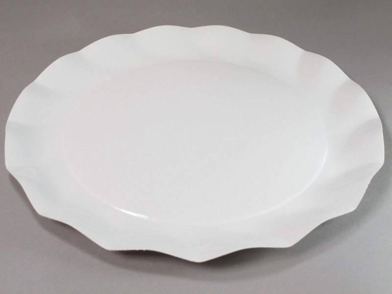 Assiette carton - Blanc 32,4cm