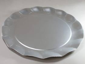 Assiette carton - Argent Satiné 32,4cm