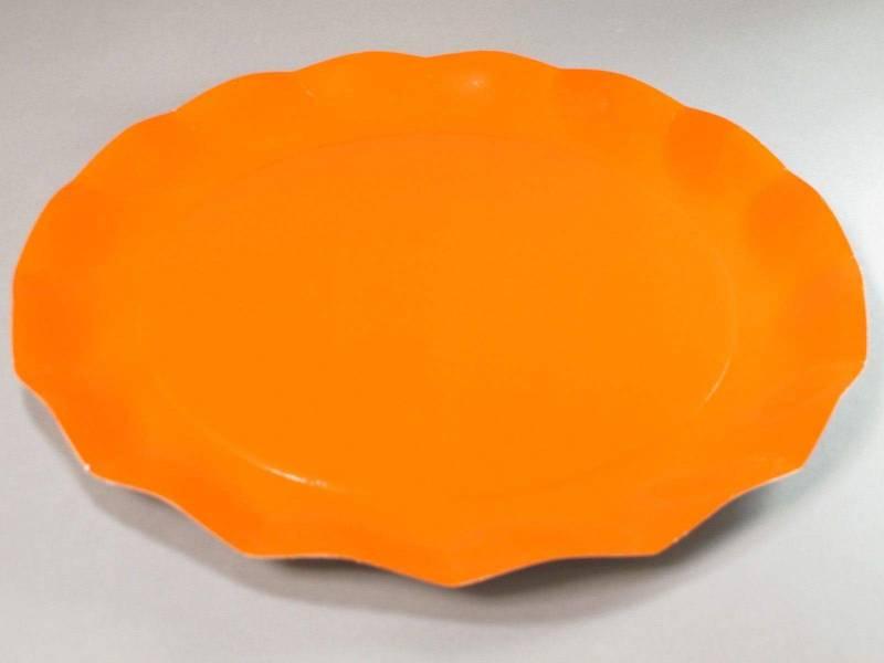 Assiette carton - Orange 32,4cm