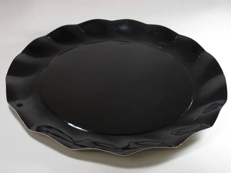 Assiette carton - Noir 32,4cm