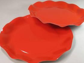 Assiette carton - Rouge 27cm