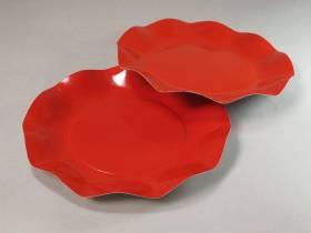 Assiette carton - Rouge 21cm