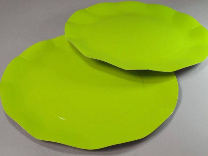 Assiette carton - Vert Citron 27cm