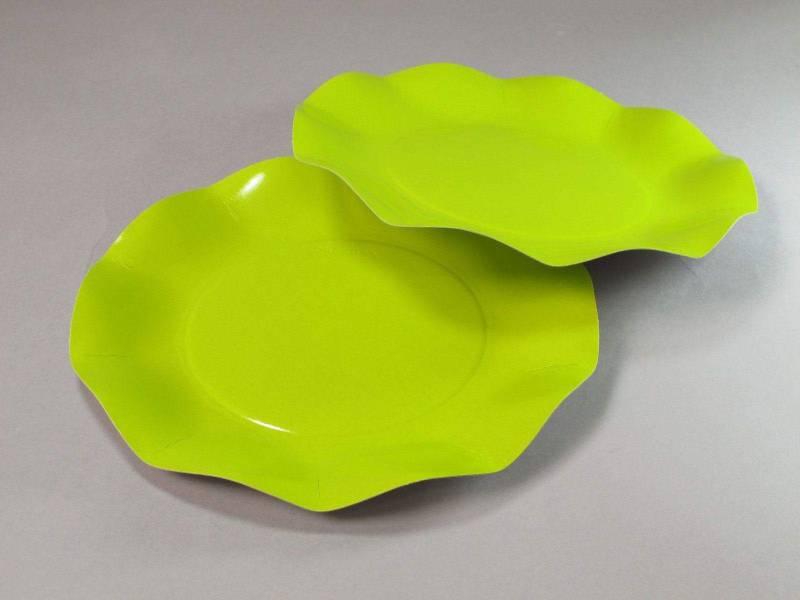 Assiette carton - Vert Citron 21cm