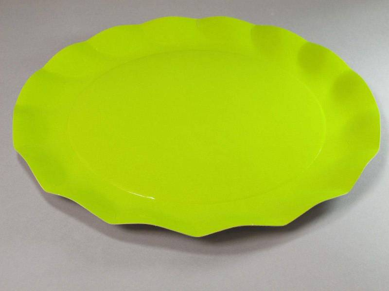 Assiette carton - Vert Citron 32,4cm