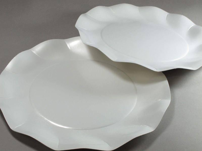 Assiette carton - Blanc Nacré 27cm