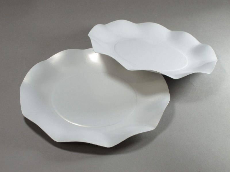 Assiette carton - Blanc Nacré 21cm