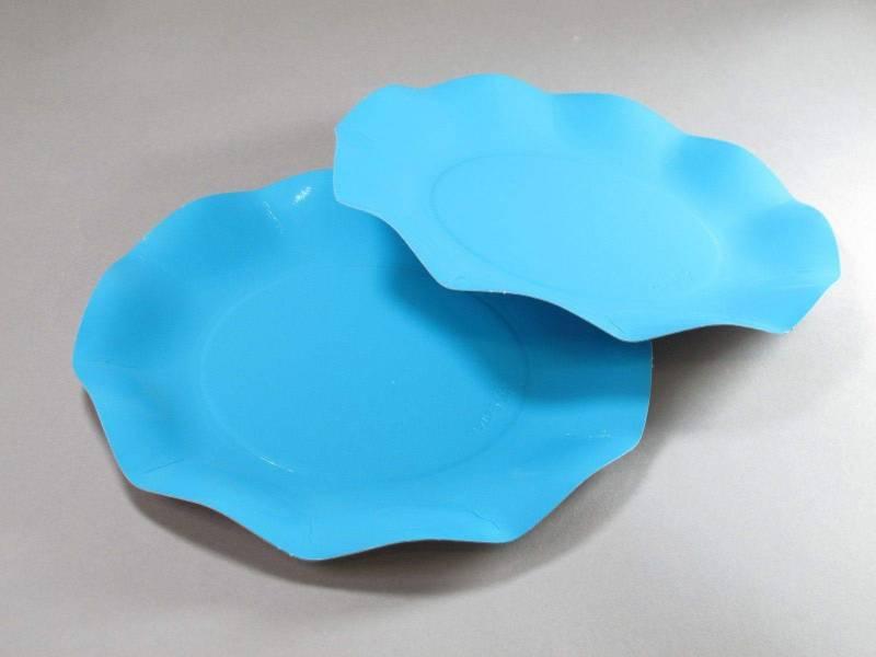 Assiette carton - Turquoise 21cm