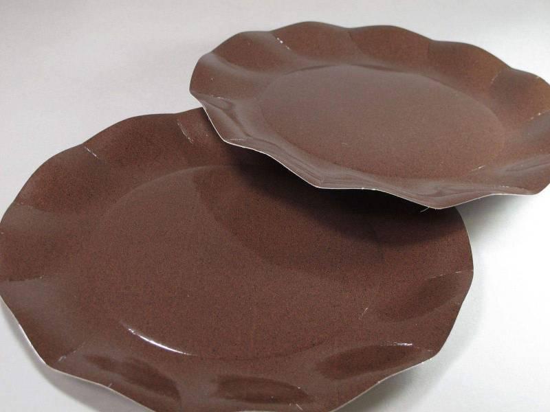 Assiette carton - Chocolat 27cm