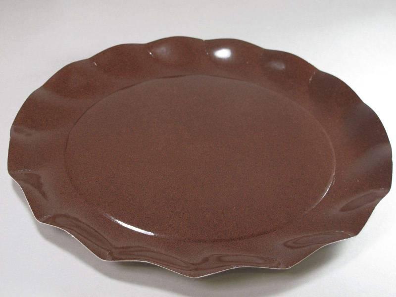 Assiette carton - Chocolat 32,4cm