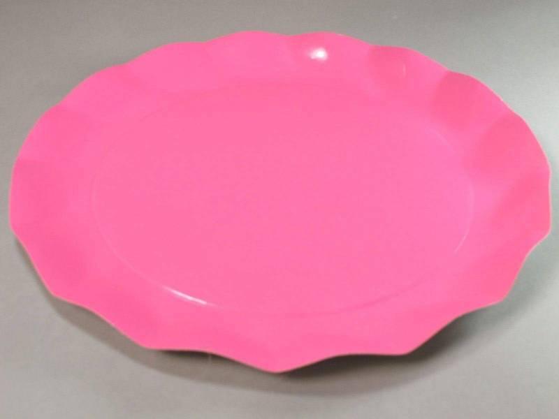Assiette carton - Rose Vif 32,4cm