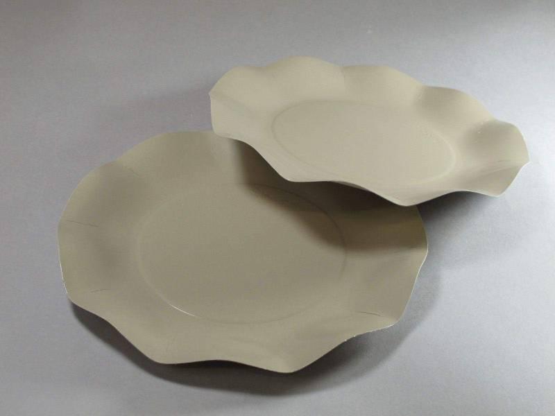 Assiette carton - Taupe 21cm