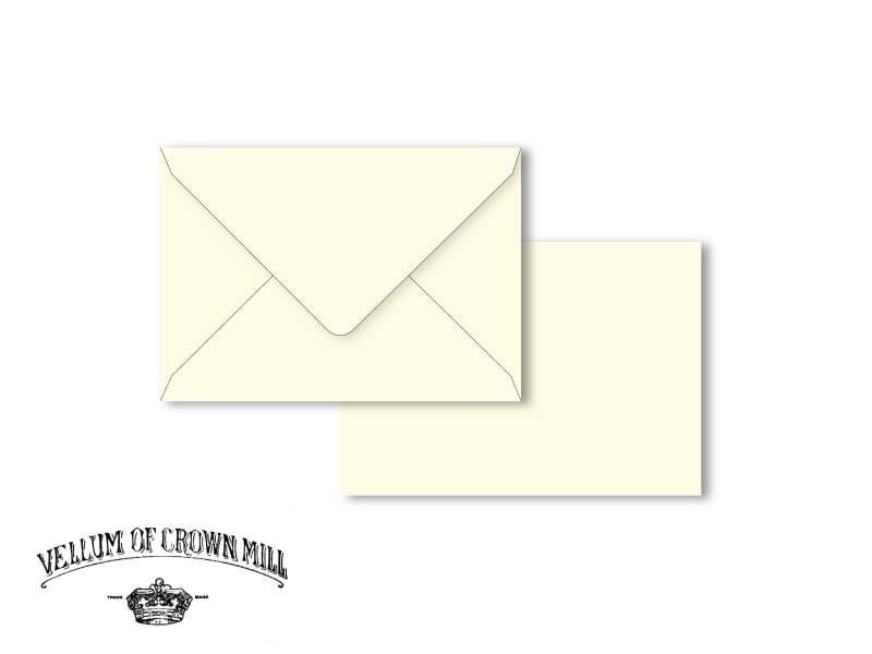 Enveloppe velin format 12x18cm - Crème