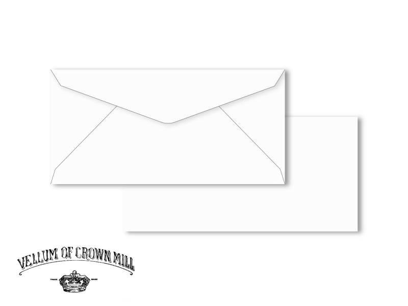 Enveloppe velin format DL - Blanc