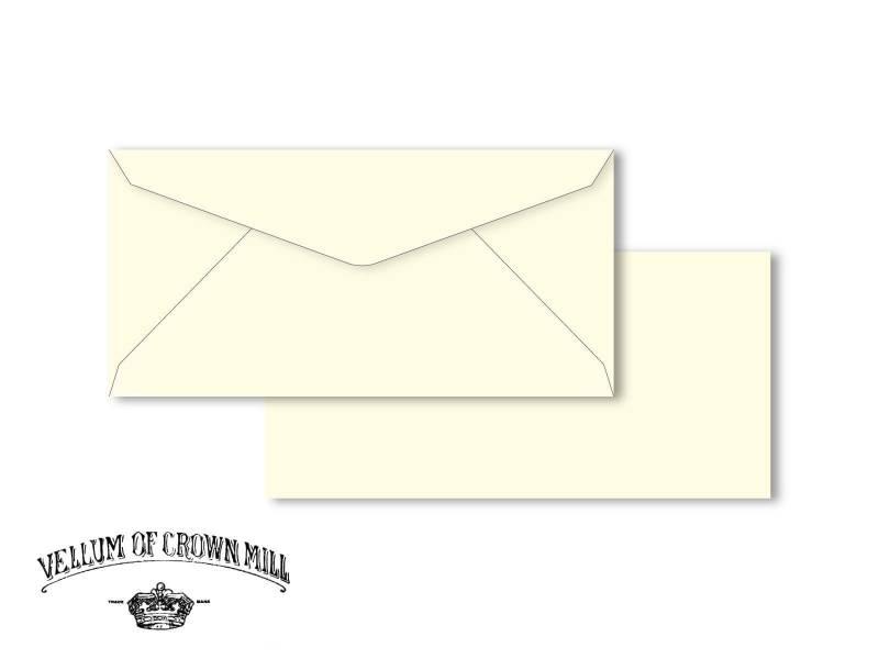 Enveloppe velin format DL - Crème