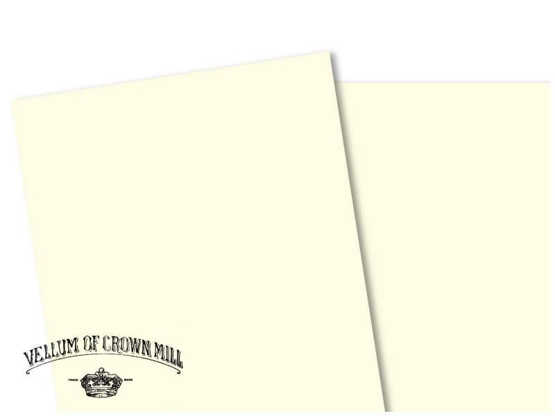 Carte velin format A4 - Crème
