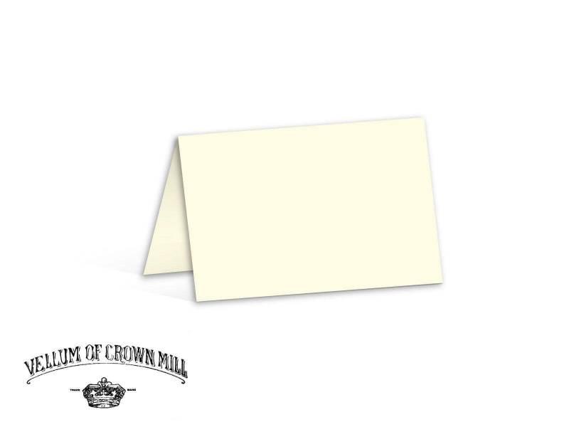 Carte double velin format 17x23cm - Crème