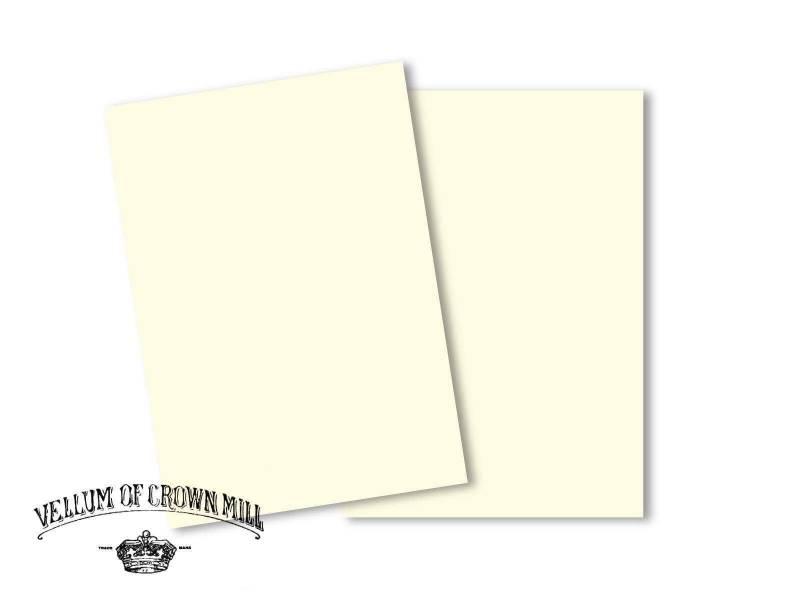 Carte velin format A5 - Crème