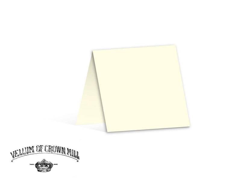 Carte double velin format 13,5x27cm - Crème