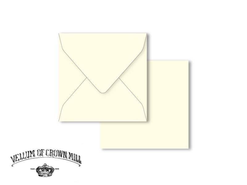 Enveloppe velin format 14x14cm - Crème