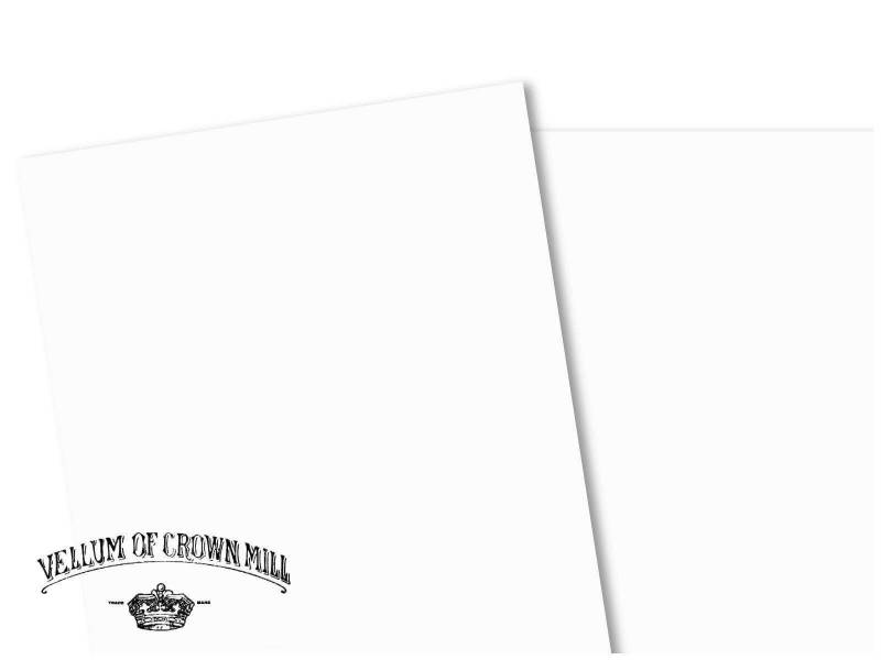 Carte velin format A4 - Blanc