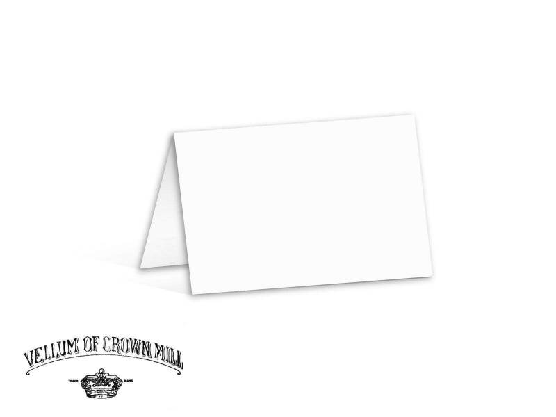 Carte double velin format 17x23cm - Blanc